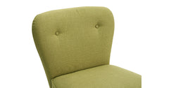 Green_Linen fabric tub chair