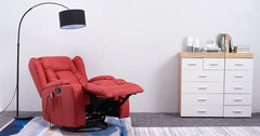 Red_Electric Recliner Armchair