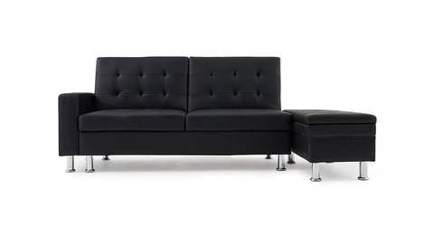 Black_ 3-seater sofa bed