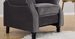 Grey_Wing Back Fireside Recliner Chair