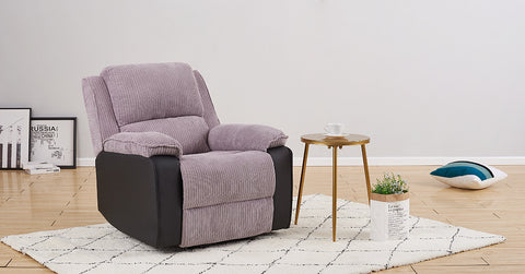 Grey_Fabric Recliner Armchair