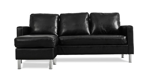 Black_3 seater sofa with footstool