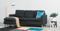 Gray_sofa with footstool