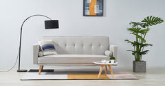 Cream_single sofa bed