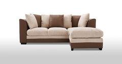 3 Seater Fabric Sofa with Footstool