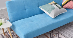 Blue_3 Seater Clic Clac Sofa Bed