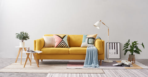 Yellow_3 Seater Sofa