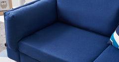 Blue_3 Seater Sofa