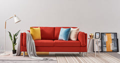 Red_3 Seater Sofa