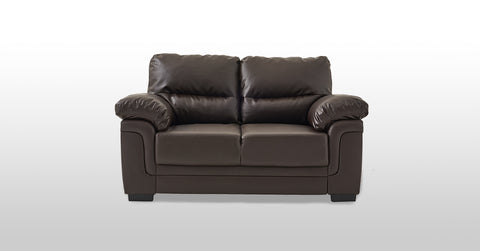 Brown_2 seater faux leather sofa