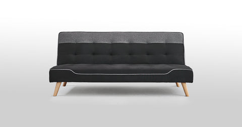 Black_3 Seater Sofa Bed