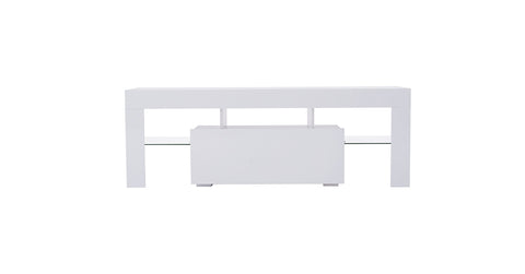 White_TV Stand Cabinet Unit