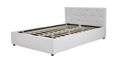 White storage bed