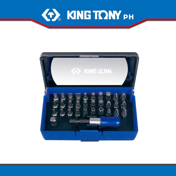 King Tony #1032CQ, 32 Pc. Assorted Bit Set in Casing