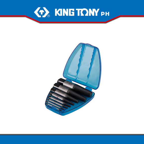 King Tony #11208SQ, 8 Pc. Screw Extractor Set 1/8