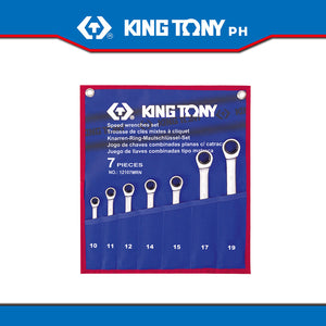 King Tony #12107MR/12207MR, Speed Wrench Set, 10-19mm (7pcs.) - United Solid Facility Inc.