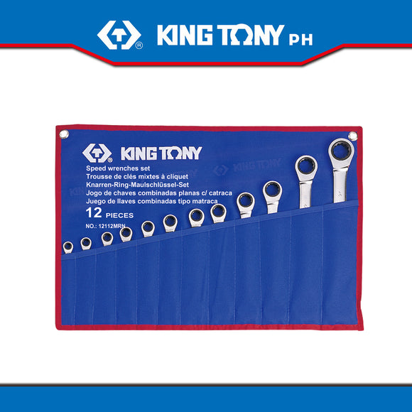 King Tony #12112MR, Speed Wrench, 8-24mm (12pcs.) - United Solid Facility Inc.