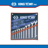"King Tony #1211SR, Combination Wrench Set, 1/4""-1"" (11pcs.) - United Solid Facility Inc."
