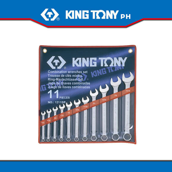 King Tony #1211SR, Combination Wrench Set, 1/4