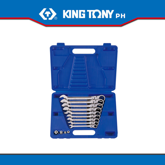 King Tony #13013MR, Flexible Speed Wrench Set, 8-19mm (13pcs.) - United Solid Facility Inc.