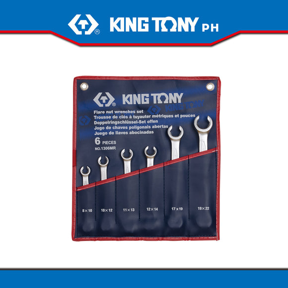 King Tony #1306MR, Flare Nut Wrench Set, 8-22mm (6pcs.) - United Solid Facility Inc.