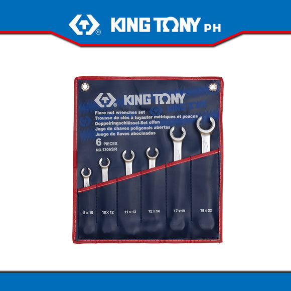 King Tony #1306SR, Flare Nut Wrench Set, 5/16