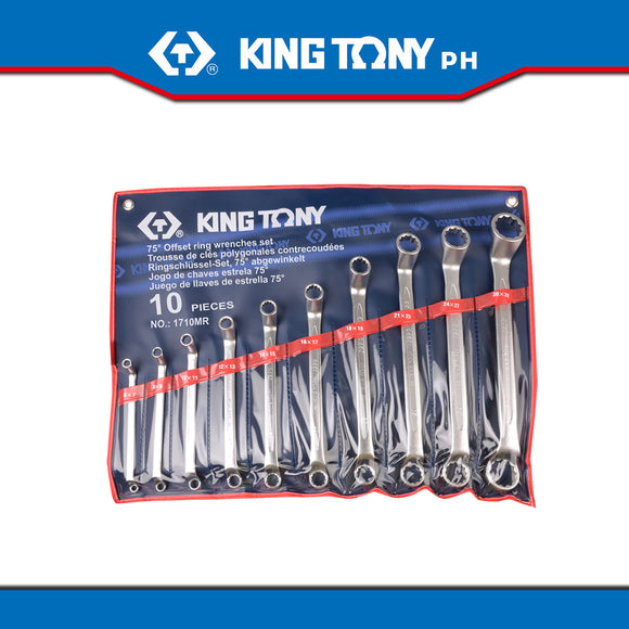 King Tony #1710MR, Box Wrench Set, 6-32mm (10pcs.) - United Solid Facility Inc.