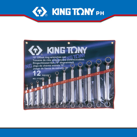 King Tony #1712MR, Box Wrench Set, 6-32mm (12pcs.) - United Solid Facility Inc.