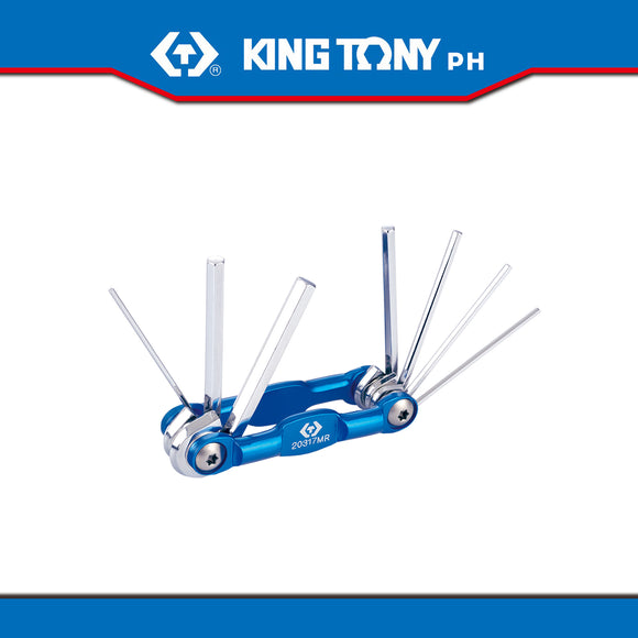 King Tony #20317MR, 7 Pc. Hex Key Set (Knife Type)