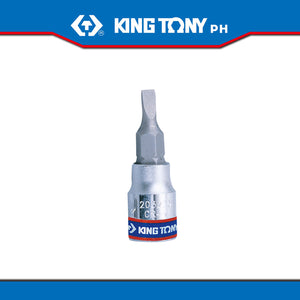 "King Tony #2032, 1/4"" Drive Flat/Slotted Bit Socket - United Solid Facility Inc."