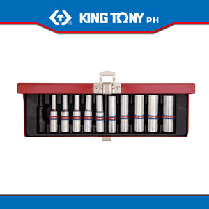 "King Tony #2510SR, 1/4"" Drive Deep Socket Set, 10pcs. (english)"