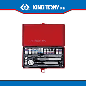 "King Tony #2518MR01, 18 pc. 1/4"" Drive Socket Set - United Solid Facility Inc."