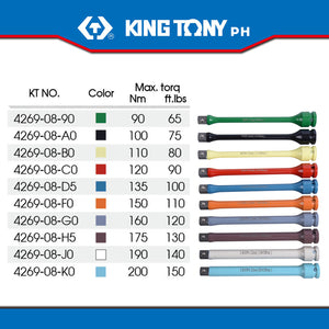 "King Tony #4269, 1/2"" Drive Torque Extension Bar - United Solid Facility Inc."