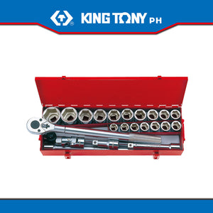 "King Tony #6323MR/6023MR, 3/4"" Drive Socket Set 23 pcs."