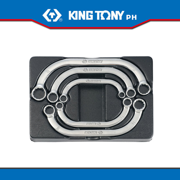 King Tony #9-1905MR, Half Moon Box Wrench Set, 10-22mm (5pcs.) - United Solid Facility Inc.
