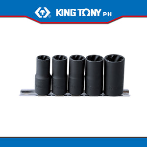 "King Tony #9TD035MR, 1/2"" Drive Damaged Nuts Remover Socket Set - United Solid Facility Inc."