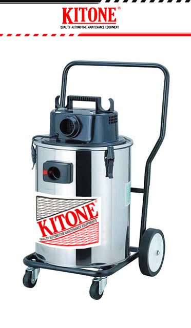 Kitone #VC-I-381-S, Stainless Steel Industrial Wet and Dry Vacuum Cleaner - United Solid Facility Inc.