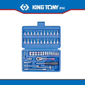 "King Tony #ST2346MR, 1/4"" Drive Socket Set (46pcs.)"