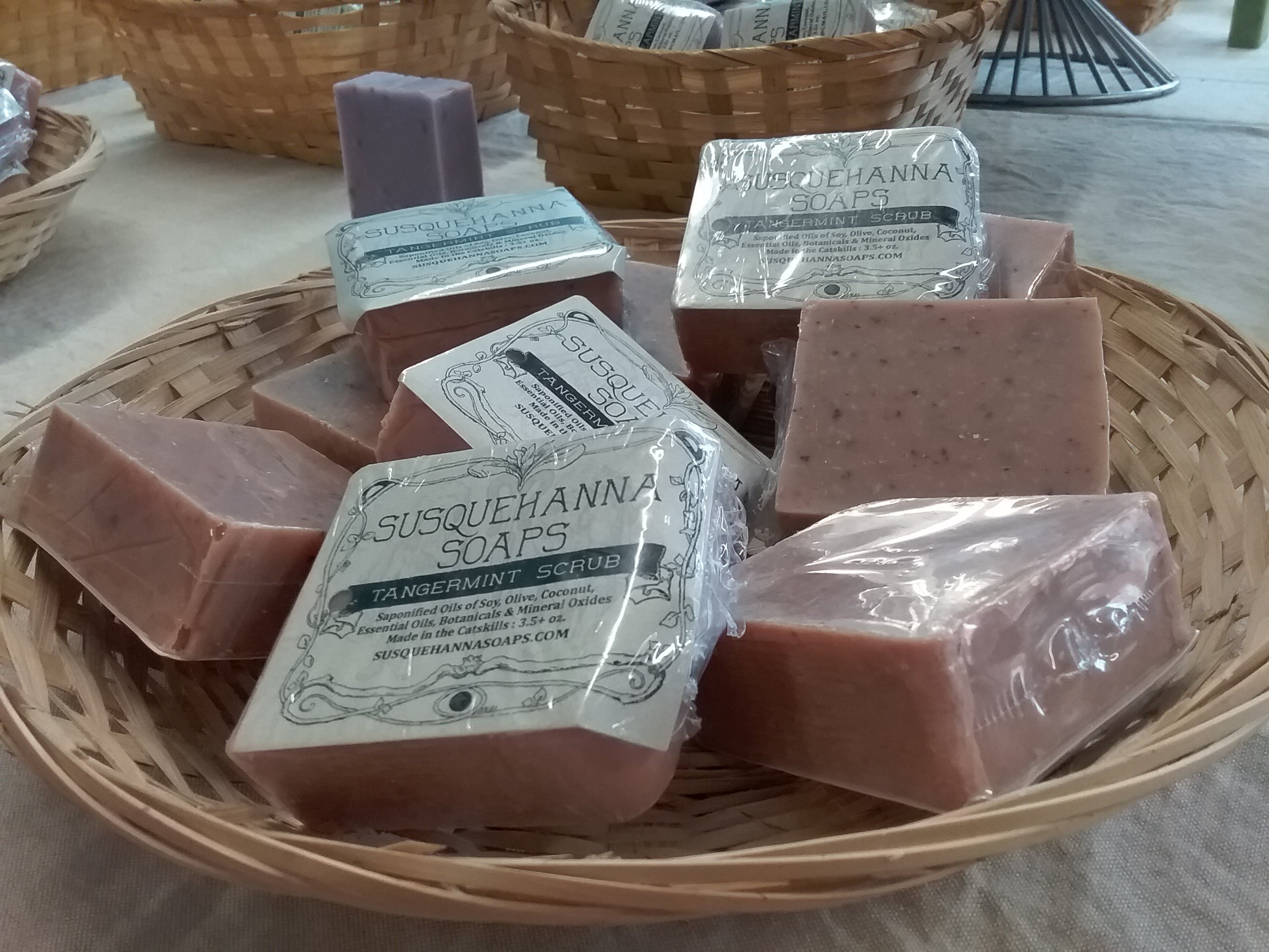Tangermint scrub all natural soap