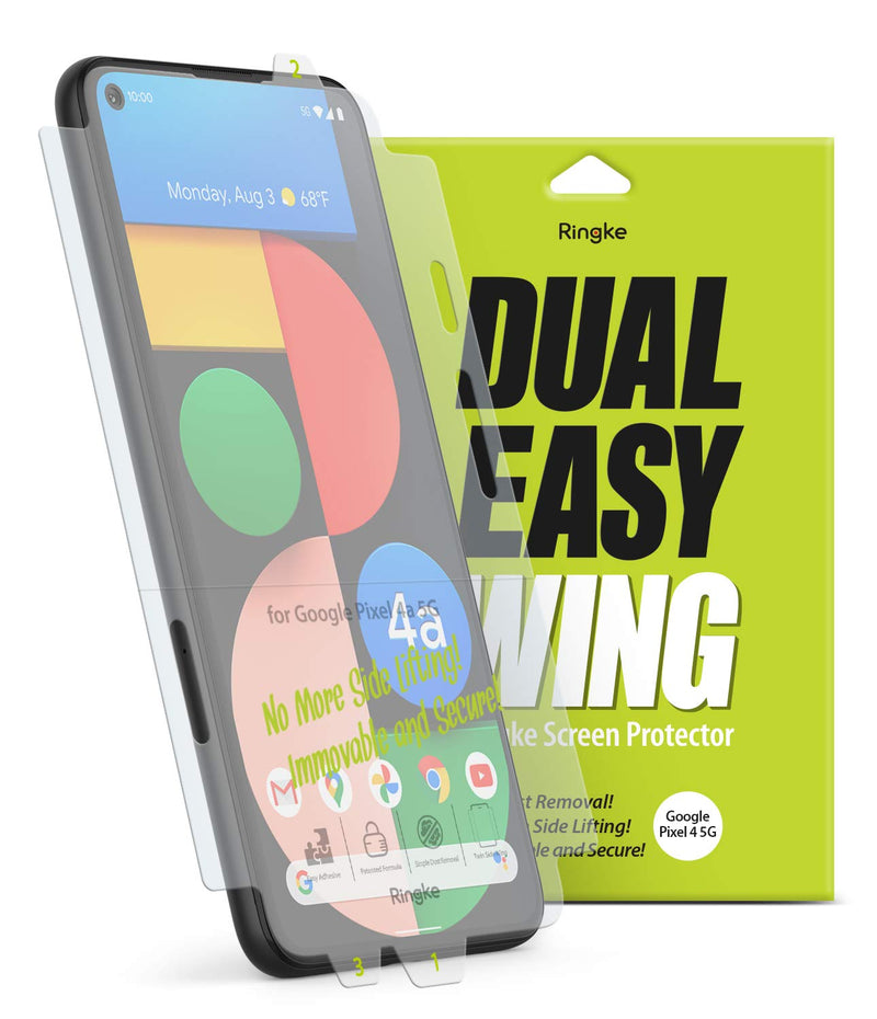 Ringke Dual Easy Wing Film (2 Pack) Designed for Google Pixel 4a 5G Screen Protector