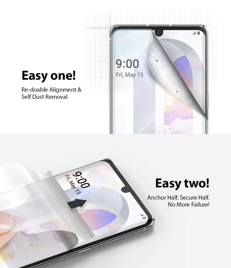 Ringke Dual Easy Wing Film (2 Pack) Designed for LG VELVET Screen Protector