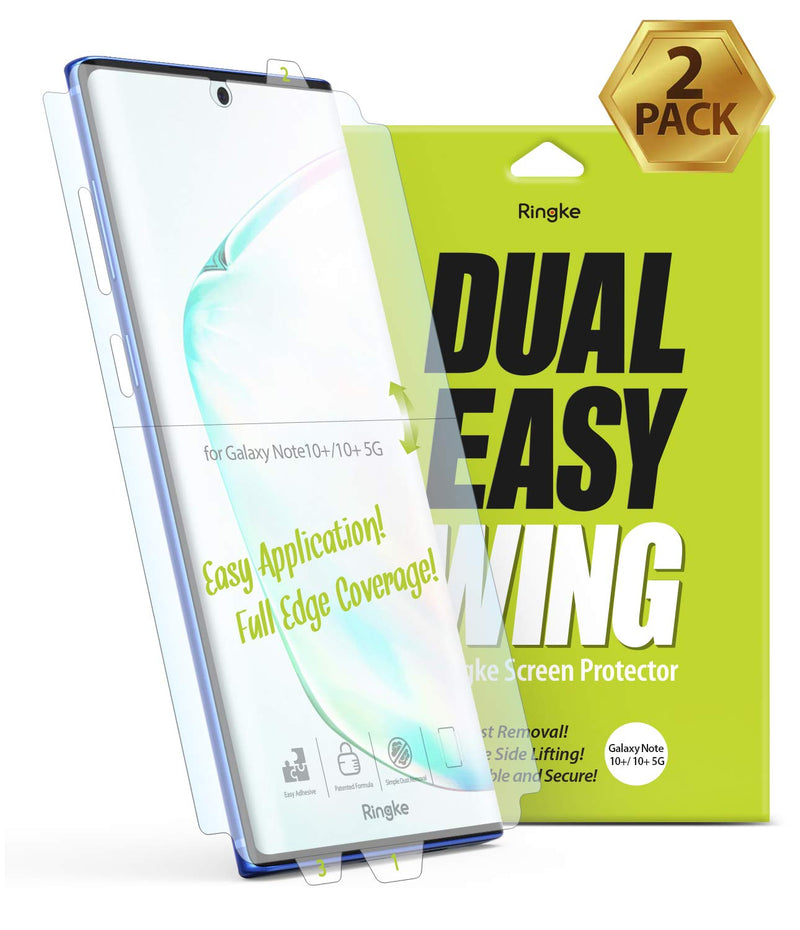 Ringke Dual Wing Film Screen Protector for Galaxy Note 10 Plus 5G-2 Pack