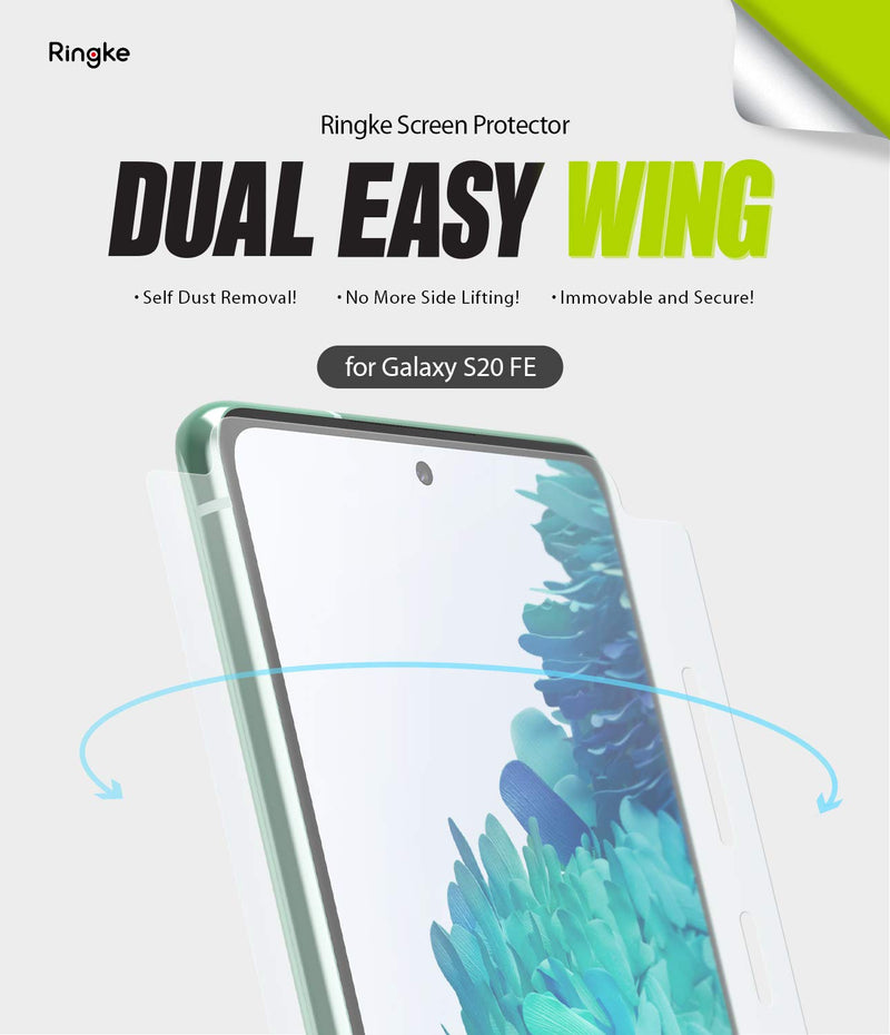 Ringke Dual Easy Wing Film for Galaxy S20 FE Screen Protector [2 Pack]
