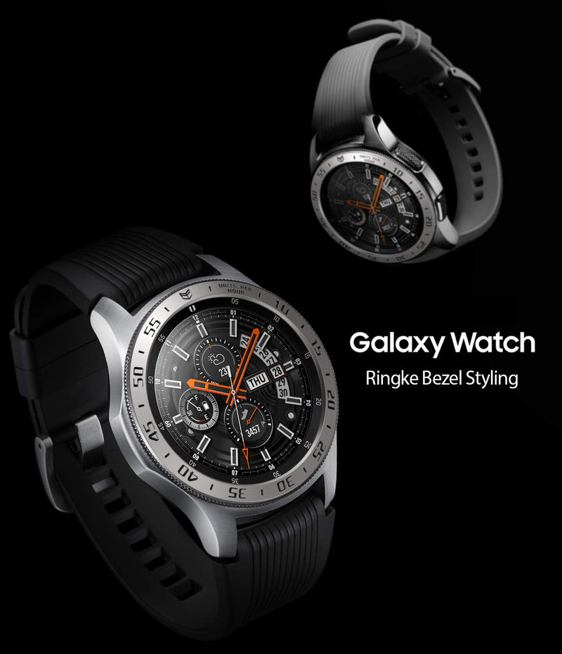 Ringke Bezel Styling for Galaxy Watch 46mm / Galaxy Gear S3 Frontier & Classic Bezel Ring Adhesive Cover Anti Scratch Aluminium Protection Tachymeter [Aluminum] GW-46 (Galaxy Watch is NOT INCLUDED)