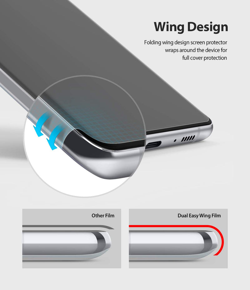 Ringke Dual Easy Wing Film (2 Pack) Designed for Galaxy S10 Lite Screen Protector