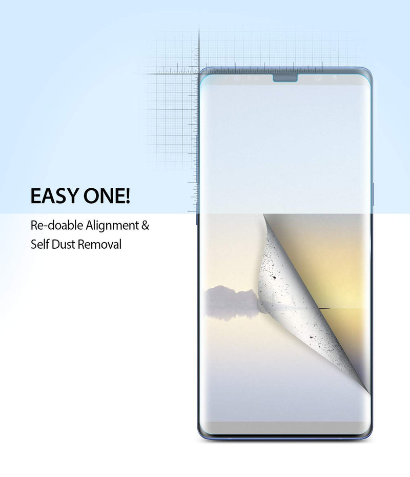Ringke Dual Easy Full Coverage Screen Protector for Galaxy Note 8 (2-Pack)