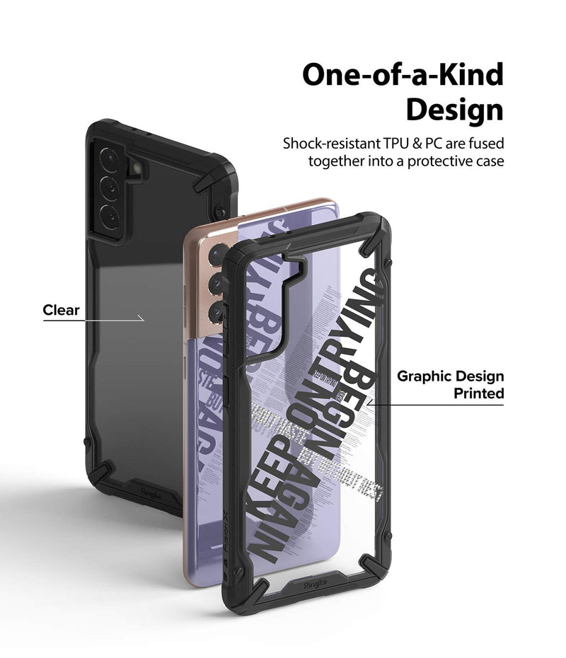 Ringke Fusion-X Design Back Cover Case for Samsung Galaxy S21 Plus