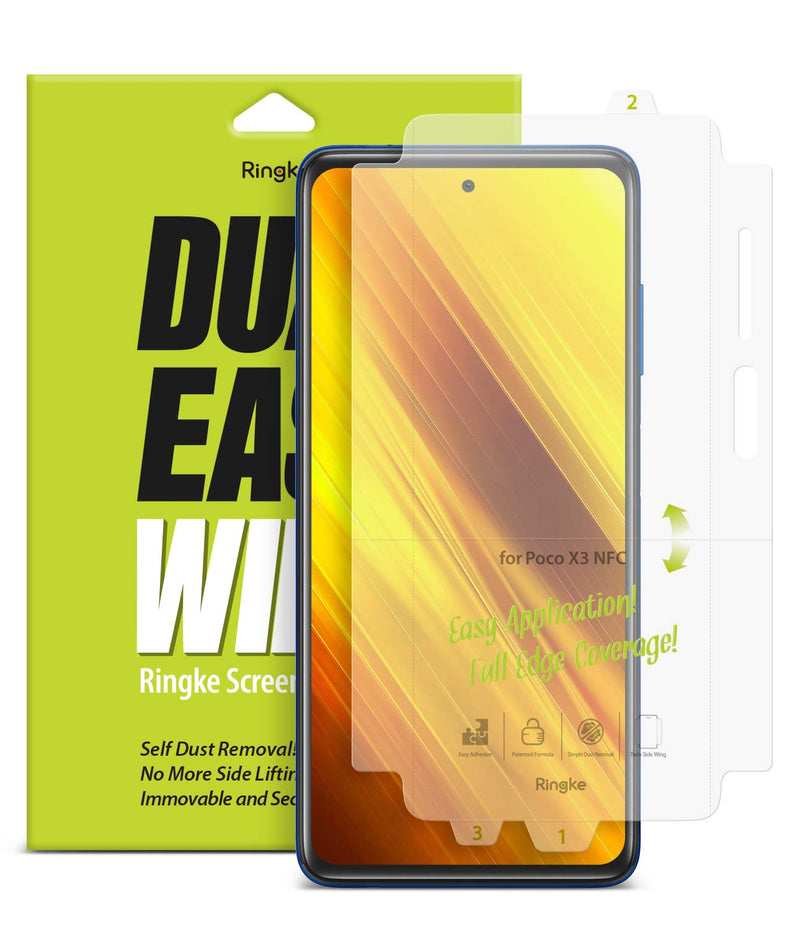 Ringke Dual Easy Wing Film for Xiaomi Poco X3 Pro /  Poco X3 NFC / Poco X3 ( Indian version )  Screen Protector [2 Pack]