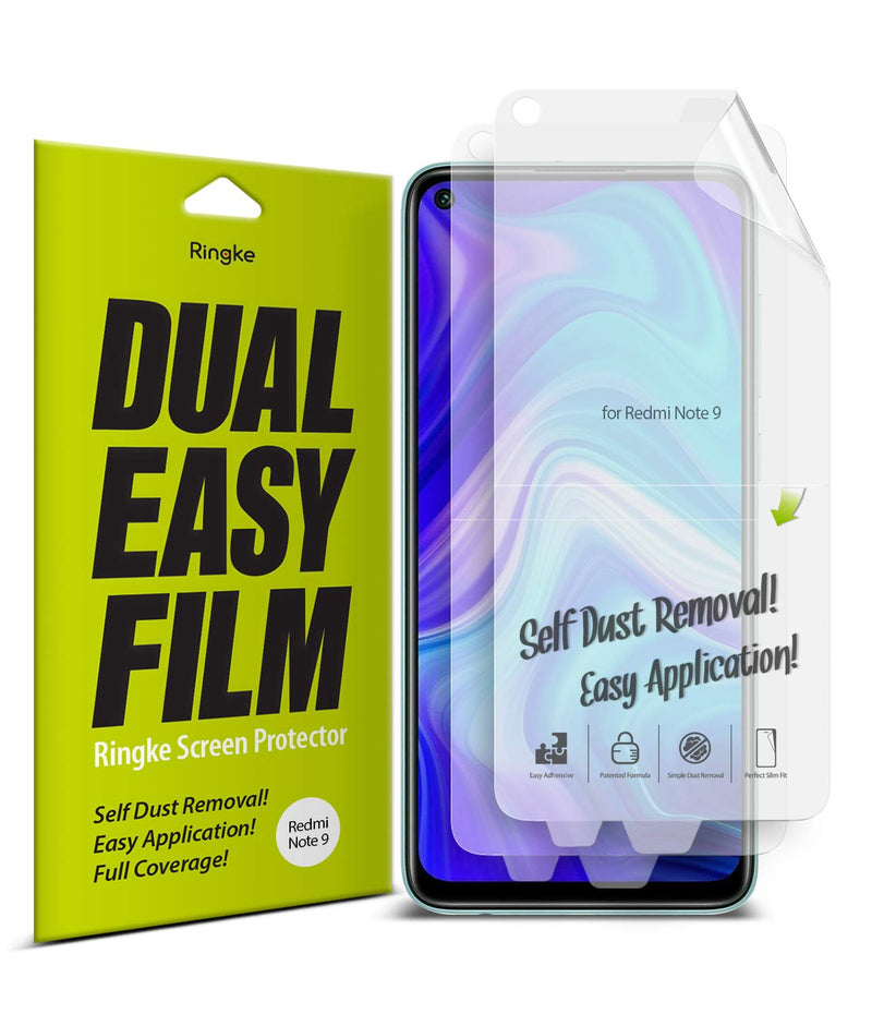 Ringke Dual Easy Film (2 Pack) Designed for Xiaomi Redmi Note 9 Screen Protector