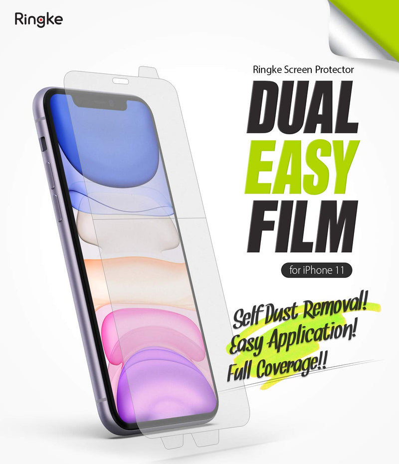 Ringke Dual Easy Film (2 Pack) Designed for iPhone 11 Screen Protector